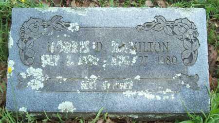 HAMILTON, MORRIS D. - Logan County, Arkansas | MORRIS D. HAMILTON - Arkansas Gravestone Photos