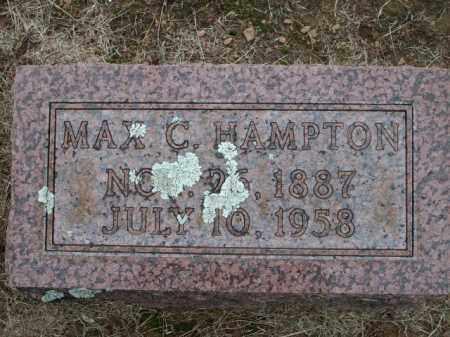 HAMPTON, MAX C. - Logan County, Arkansas | MAX C. HAMPTON - Arkansas Gravestone Photos