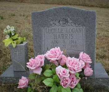 LOGAN HARRIS, LUCILLE - Logan County, Arkansas | LUCILLE LOGAN HARRIS - Arkansas Gravestone Photos