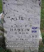 HARTIN, FELIX L - Logan County, Arkansas | FELIX L HARTIN - Arkansas Gravestone Photos