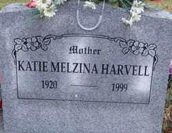 HARVELL, KATIE MELZINA - Logan County, Arkansas | KATIE MELZINA HARVELL - Arkansas Gravestone Photos