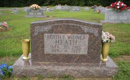 WIDNER HEATH, EDITH I. - Logan County, Arkansas | EDITH I. WIDNER HEATH - Arkansas Gravestone Photos