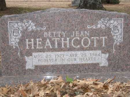 HEATHCOTT, BETTY JEAN - Logan County, Arkansas | BETTY JEAN HEATHCOTT - Arkansas Gravestone Photos