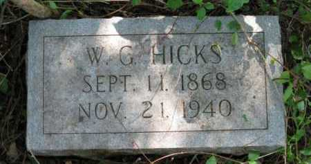 HICKS, W G - Logan County, Arkansas | W G HICKS - Arkansas Gravestone Photos