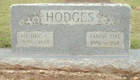 HODGES, FANNIE - Logan County, Arkansas | FANNIE HODGES - Arkansas Gravestone Photos