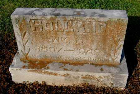 HOLLAND, WILLIAM L. - Logan County, Arkansas | WILLIAM L. HOLLAND - Arkansas Gravestone Photos