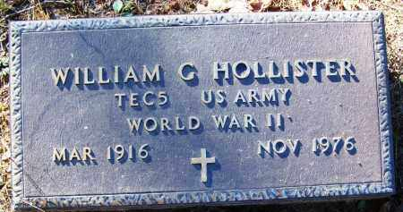 HOLLISTER (VETERAN WWII), WILLIAM G - Logan County, Arkansas | WILLIAM G HOLLISTER (VETERAN WWII) - Arkansas Gravestone Photos