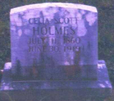 SCOTT HOLMES, CELIA - Logan County, Arkansas | CELIA SCOTT HOLMES - Arkansas Gravestone Photos