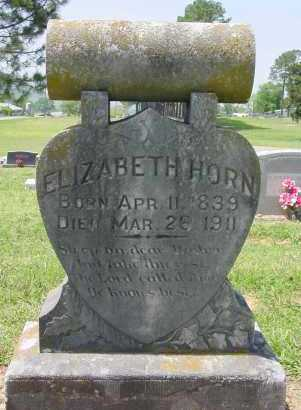HUNSUCKER HORN, ELIZABETH - Logan County, Arkansas | ELIZABETH HUNSUCKER HORN - Arkansas Gravestone Photos