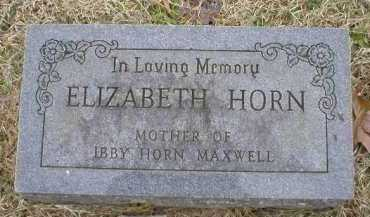 HORN, ELIZABETH - Logan County, Arkansas | ELIZABETH HORN - Arkansas Gravestone Photos