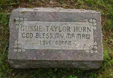 SMITH HORN, GUSSIE TAYLOR - Logan County, Arkansas | GUSSIE TAYLOR SMITH HORN - Arkansas Gravestone Photos