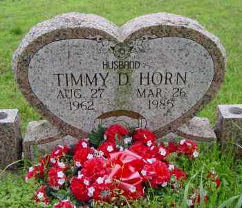 HORN, TIMMY D - Logan County, Arkansas | TIMMY D HORN - Arkansas Gravestone Photos