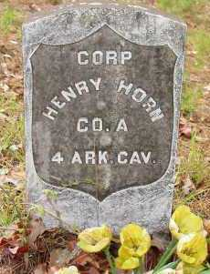 HORN (VETERAN UNION), HENRY - Logan County, Arkansas | HENRY HORN (VETERAN UNION) - Arkansas Gravestone Photos