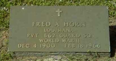 HORN (VETERAN WWII), FRED ANCIL - Logan County, Arkansas | FRED ANCIL HORN (VETERAN WWII) - Arkansas Gravestone Photos