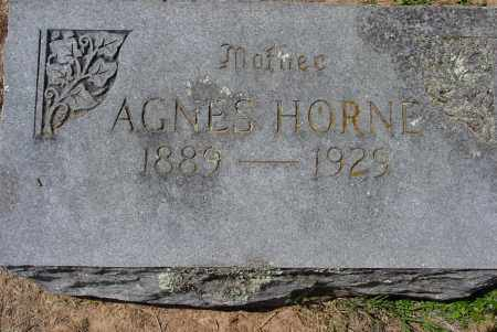 HORNE, AGNES - Logan County, Arkansas | AGNES HORNE - Arkansas Gravestone Photos