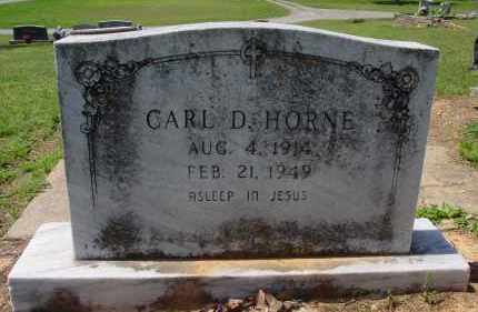 HORNE, CARL D. - Logan County, Arkansas | CARL D. HORNE - Arkansas Gravestone Photos