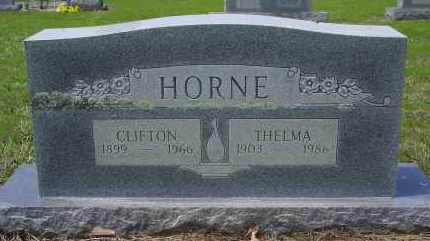 HORNE, CLIFTON - Logan County, Arkansas | CLIFTON HORNE - Arkansas Gravestone Photos