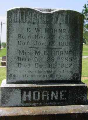 HORNE, GEORGE WASHINGTON - Logan County, Arkansas | GEORGE WASHINGTON HORNE - Arkansas Gravestone Photos