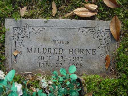HORNE, MILDRED - Logan County, Arkansas | MILDRED HORNE - Arkansas Gravestone Photos