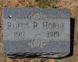HORNE, RUFUS R - Logan County, Arkansas | RUFUS R HORNE - Arkansas Gravestone Photos