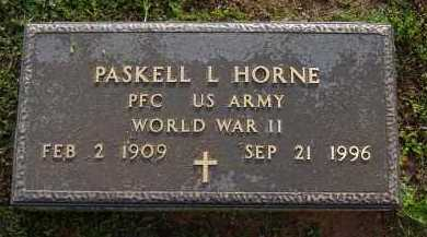 HORNE (VETERAN WWII), PASKELL  LEE - Logan County, Arkansas | PASKELL  LEE HORNE (VETERAN WWII) - Arkansas Gravestone Photos