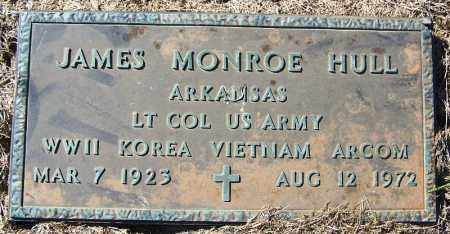 HULL (VETERAN 3 WARS), JAMES MONROE - Logan County, Arkansas | JAMES MONROE HULL (VETERAN 3 WARS) - Arkansas Gravestone Photos