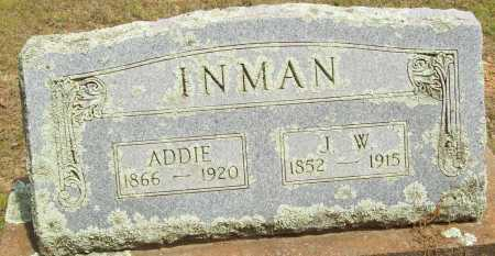 INMAN, ADDIE - Logan County, Arkansas | ADDIE INMAN - Arkansas Gravestone Photos