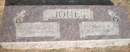 JONES, FLORENCE B. - Logan County, Arkansas | FLORENCE B. JONES - Arkansas Gravestone Photos