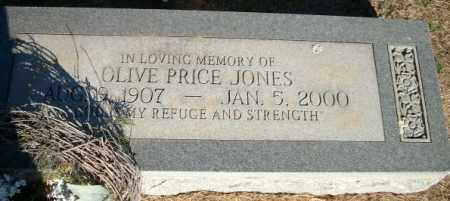 PRICE JONES, OLIVE - Logan County, Arkansas | OLIVE PRICE JONES - Arkansas Gravestone Photos