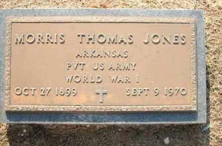 JONES (VETERAN WWI), MORRIS THOMAS - Logan County, Arkansas | MORRIS THOMAS JONES (VETERAN WWI) - Arkansas Gravestone Photos