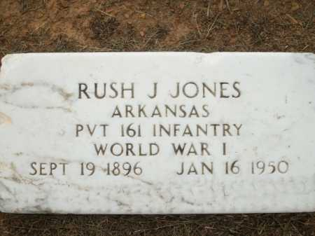 JONES (VETERAN WWI), RUSH J. - Logan County, Arkansas | RUSH J. JONES (VETERAN WWI) - Arkansas Gravestone Photos