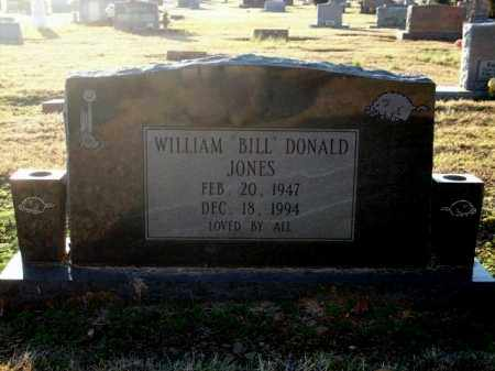 "JONES, WILLIAM ""BILL"" DONALD - Logan County, Arkansas 