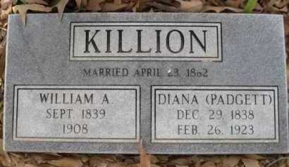 PADGETT KILLION, DIANA - Logan County, Arkansas | DIANA PADGETT KILLION - Arkansas Gravestone Photos