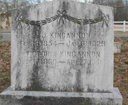 KINCANNON, A J - Logan County, Arkansas | A J KINCANNON - Arkansas Gravestone Photos