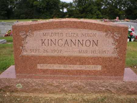 NIXON KINCANNON, MILDRED ELIZA - Logan County, Arkansas | MILDRED ELIZA NIXON KINCANNON - Arkansas Gravestone Photos