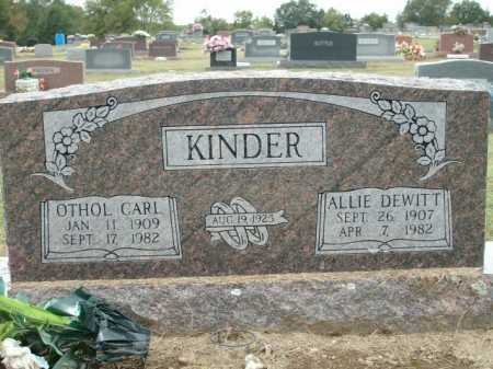 DEWITT KINDER, ALLIE - Logan County, Arkansas | ALLIE DEWITT KINDER - Arkansas Gravestone Photos