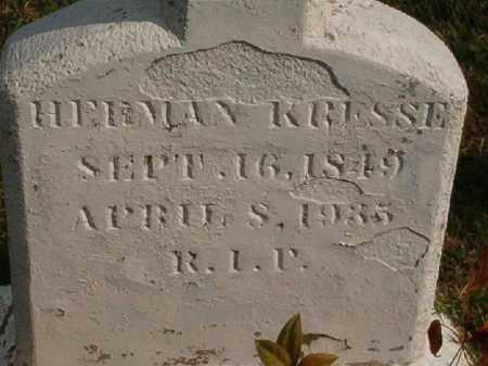 KRESSE, HERMAN - Logan County, Arkansas | HERMAN KRESSE - Arkansas Gravestone Photos
