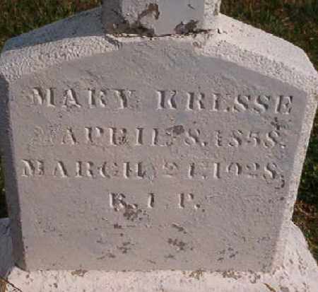 KRESSE, MARY - Logan County, Arkansas | MARY KRESSE - Arkansas Gravestone Photos