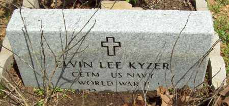 KYZER (VETERAN WWII), ELVIN LEE - Logan County, Arkansas | ELVIN LEE KYZER (VETERAN WWII) - Arkansas Gravestone Photos