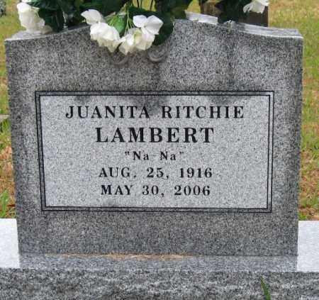 "RITCHIE LAMBERT, JUANITA ""NA NA"" - Logan County, Arkansas | JUANITA ""NA NA"" RITCHIE LAMBERT - Arkansas Gravestone Photos"