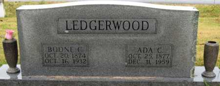 LEDGERWOOD, BOONE C. - Logan County, Arkansas | BOONE C. LEDGERWOOD - Arkansas Gravestone Photos