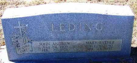 LEDING, JOHN ANDREW - Logan County, Arkansas | JOHN ANDREW LEDING - Arkansas Gravestone Photos