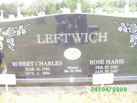 LEFTWICH, ROBERT CHARLES - Logan County, Arkansas | ROBERT CHARLES LEFTWICH - Arkansas Gravestone Photos