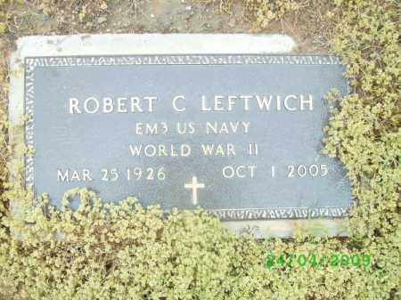 LEFTWICH (VETERAN WWII), ROBERT C. - Logan County, Arkansas | ROBERT C. LEFTWICH (VETERAN WWII) - Arkansas Gravestone Photos