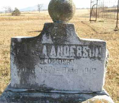 ANDERSON LOWDER, LORA - Logan County, Arkansas | LORA ANDERSON LOWDER - Arkansas Gravestone Photos