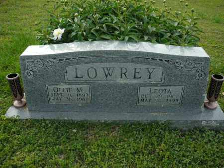 LOWREY, OLLIE - Logan County, Arkansas | OLLIE LOWREY - Arkansas Gravestone Photos