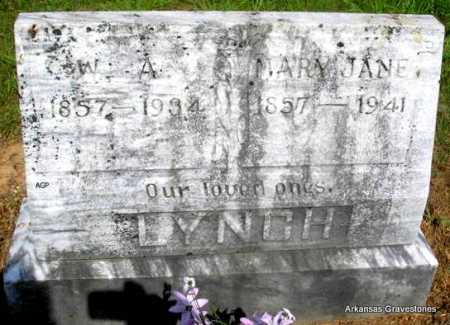 LYNCH, MARY JANE - Logan County, Arkansas | MARY JANE LYNCH - Arkansas Gravestone Photos