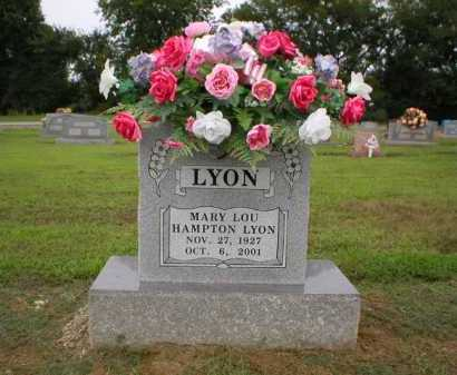 HAMPTON LYON, MARY LOU - Logan County, Arkansas | MARY LOU HAMPTON LYON - Arkansas Gravestone Photos