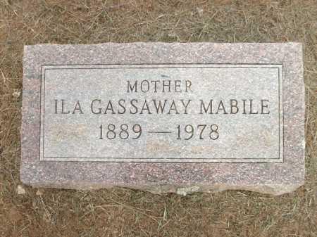 MABILE, ILA GASSAWAY - Logan County, Arkansas | ILA GASSAWAY MABILE - Arkansas Gravestone Photos