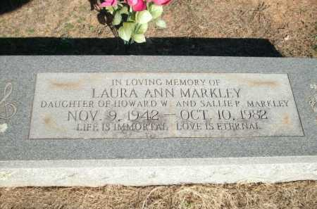 MARKLEY, LAURA ANN - Logan County, Arkansas | LAURA ANN MARKLEY - Arkansas Gravestone Photos